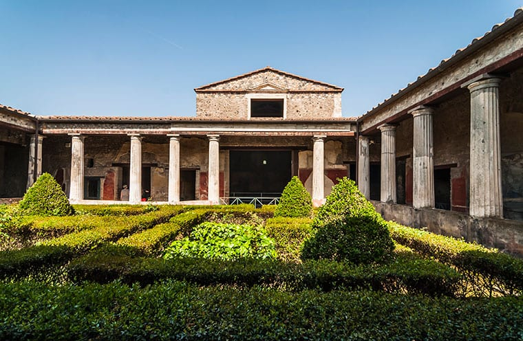 Beautiful home and courtyard in ancient Pompeii