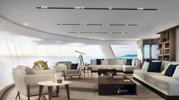 Silversea Cruises - Silver Origin's Observation Lounge is modern and sophisticated