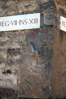 Street signs in Pompeii