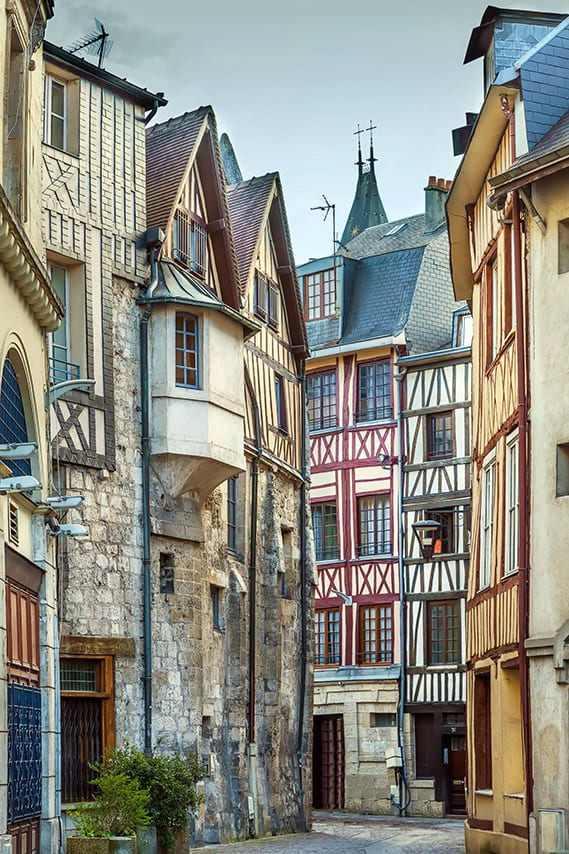 French city of Rouen on the river Seine