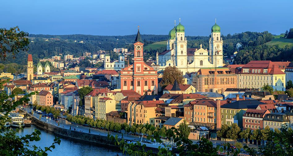 Passau, Germany on the Danube River