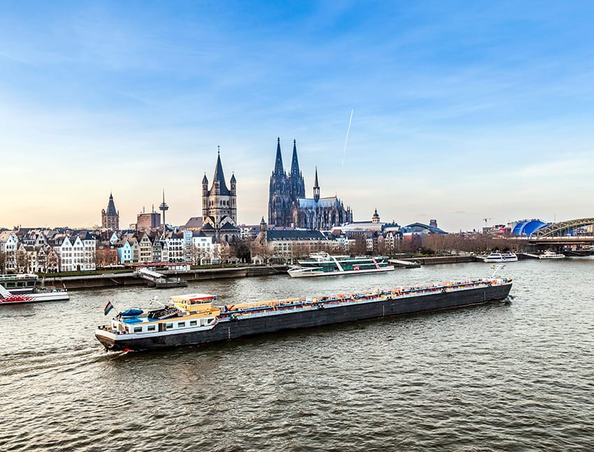 River cruise ship in Cologne
